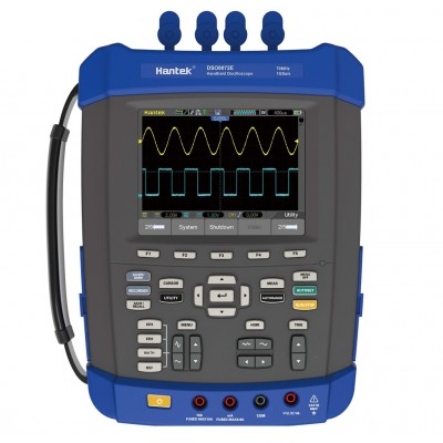 Hantek DSO8102E портативный осциллограф (2 канала, 120МГц полоса, 1GSa/s, 2М память,ген.)
