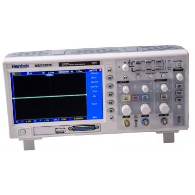Hantek MSO5202D осциллограф смешанных сигналов (2 канала, 200МГц полоса, 1GSa/s, 1M память, лог. анализатор)