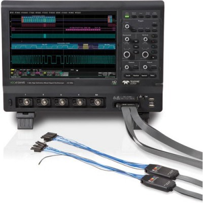 LeCroy HDO4104-MS Цифровой осциллограф: 4+16 кан., 1ГГц полоса пропускания, 2.5ГГц/кан. частота дискретизации, 12.5Мб/кан. (25Мб при объеденении) память, АЦП 12 бит (15 бит в режиме ERES), 31см сенсорный экран