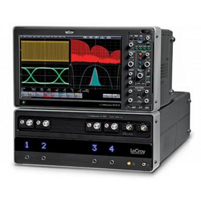 LeCroy LABMASTER 10-30Zi Высокочастотный модуль сбора информации, 4 канала с полосой пропускания 30 ГГц, макс. частота дискретизации 80 ГГц, память 20 Мб на канал (опции 32, 64, 128, 256, 512 Мб), время нарастания 10 пс, масса 24 кг, 202 х 462 х 660 мм