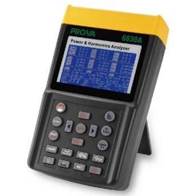 PROVA 6830A+6801 Анализатор качества эл. энергии 3-фазный (+комплект ток. клещей 6801 (1/10/100A, d30 мм))