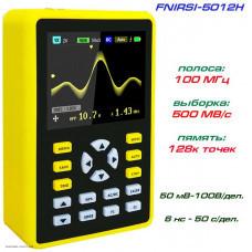 """FNIRSI 5012H Портативный осциллограф 1CH, 100 МГц, 500 МВыб/с, 2,4"""" TFT дисплей, 128 кБ"""