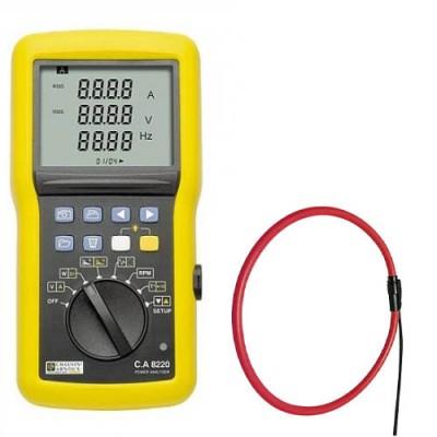 C.A 8220 AmpFlex 450 Анализатор качества эл. энергии однофазный с токовыми клещами AmpFlex 450 (6500А) и инструмент для диагностики электродвигателей